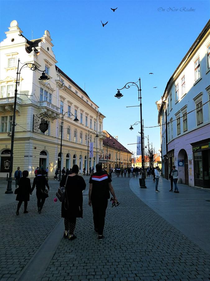 Nicolae-Balcescu-street-Sibiu-Romania